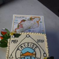 30th anniversary cake and new Kinnoull map