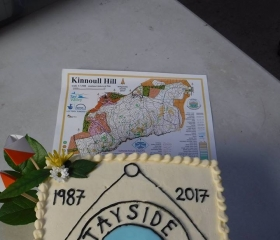 30th anniversary cake and new Kinnoull map, Tayside Orienteers