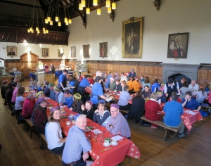 TAY Christmas Score 2015 - lunch in Glenalmond College, Grahame Nicoll