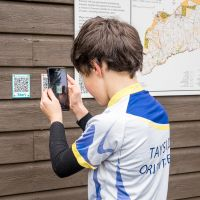 QR codes on new permament orienteering course Kinnoull