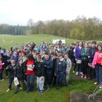 At the start: Perth & Kinross South Area Schools Champs 2014