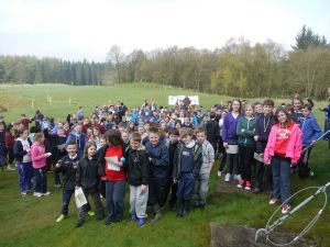 At the start: Perth & Kinross South Area Schools Champs 2014,