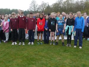 Winning teams at the Perth & Kinross South Area Schools Champs 2014,